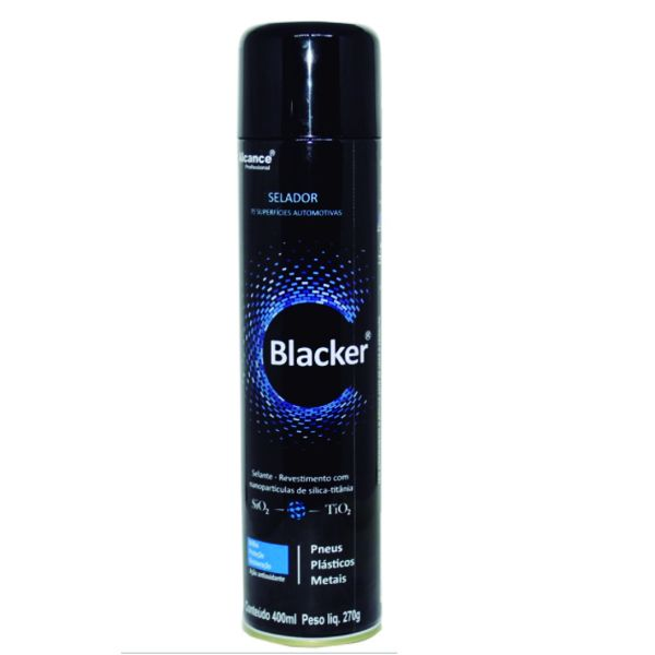 Alcance Blacker Selante Spray para Plásticos, Borrachas e Metais com SiO2 e TiO2 400Ml