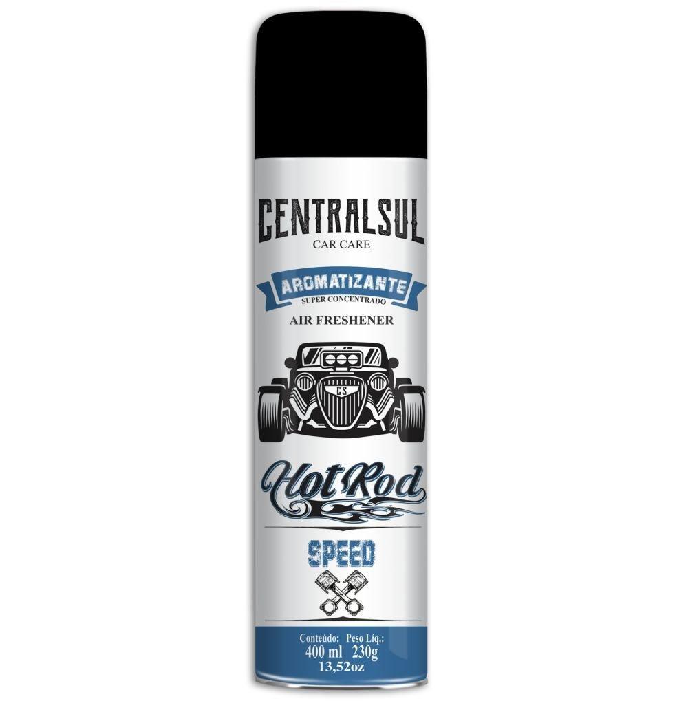 Aromatizante Aerosol  Hot Rod Speed Central Sul 400ml (Un)