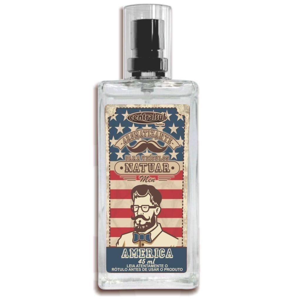 Central Sul Aromatizante Spray Natuar Men America 45ml (Un)