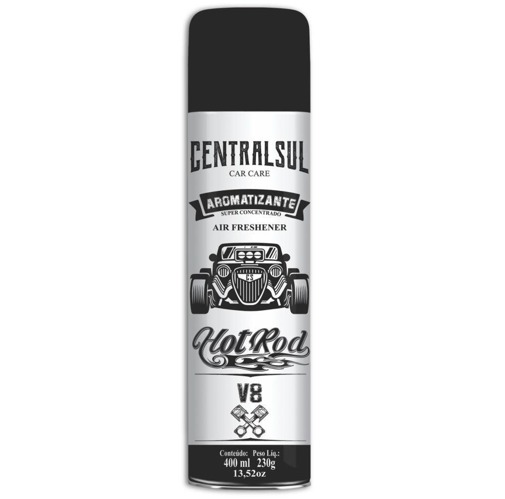 Central Sul Aromatizante Aerosol Hot Rod V8 400ml (Un)