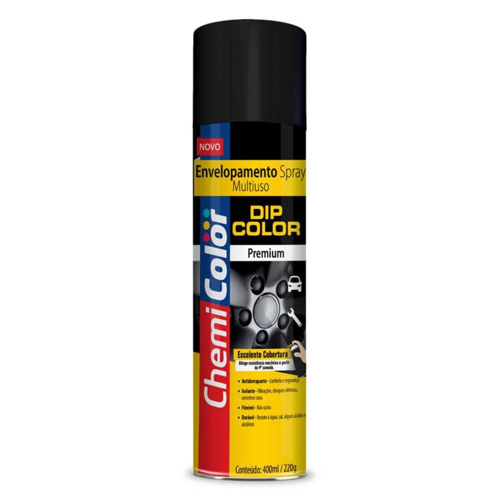 Chemicolor Envelopamento Liquido Cor Preto Fosco 400ml