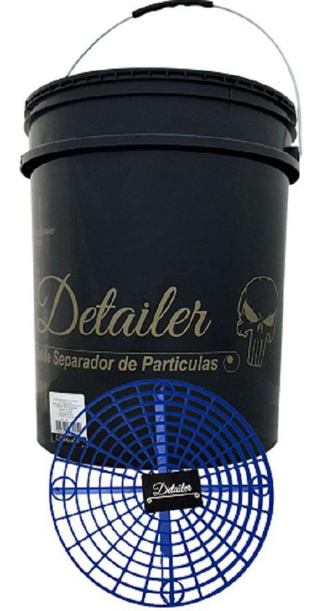 Detailer Balde Preto com Grelha Separadora de Partículas Azul  (un)