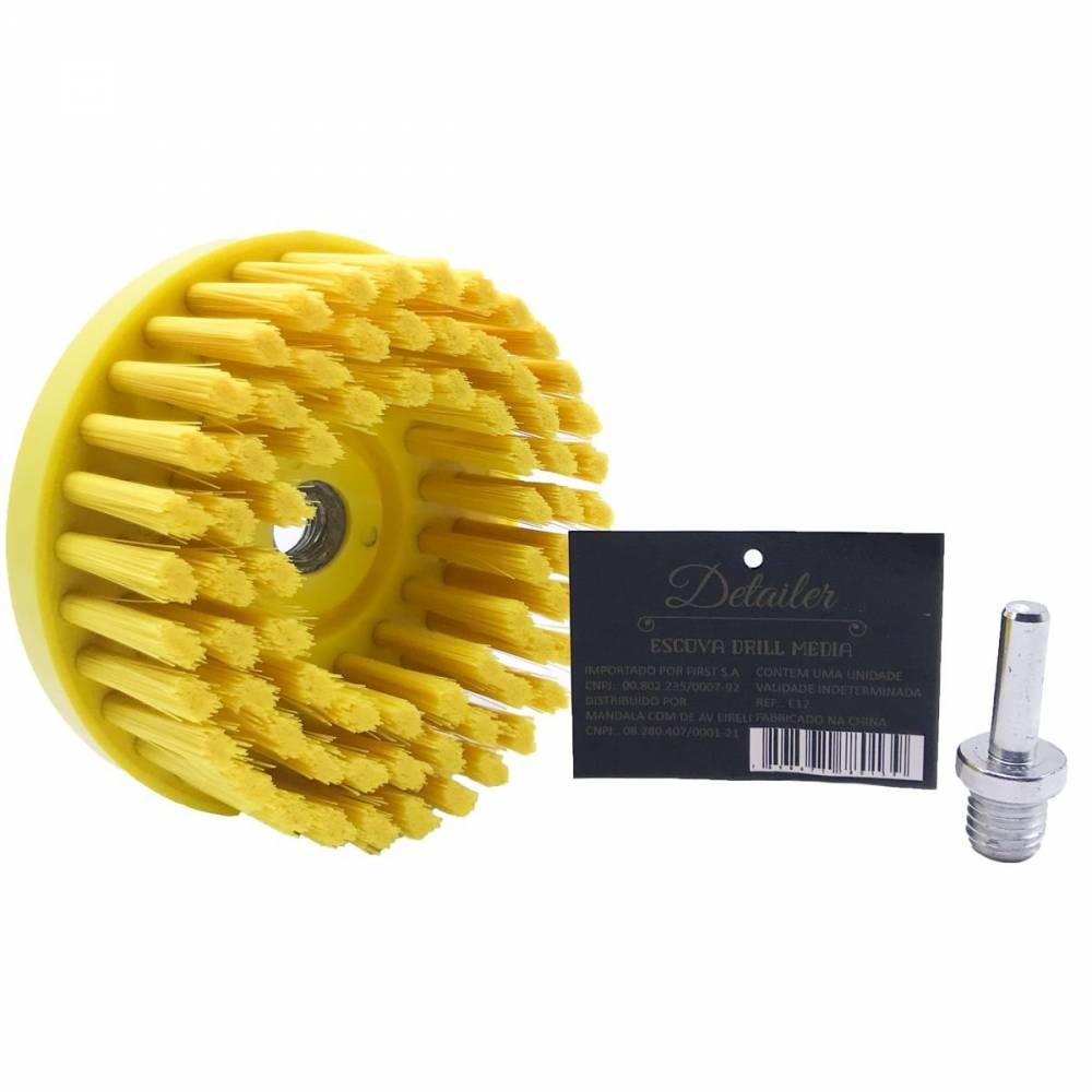Detailer Escova Media Drill com Adaptador (Un)