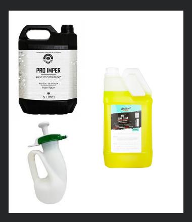 Kit Lavagem e Impermeabilização de Tecidos Pro