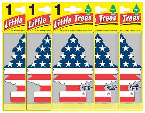 Kit Little Trees Vanilla Pride Aromatizantes Pinheirinho (5 Un)