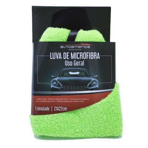 Autoamerica Luva de Microfibra Dupla Face Lisa 21x27cm (Un)