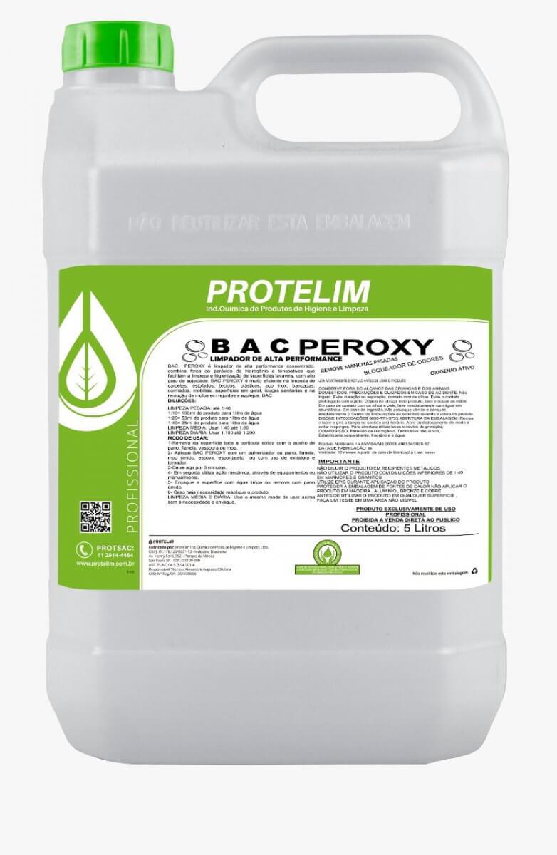 Protelim Bac Peroxy Limpador de Alta Performance Bactericida 5lts