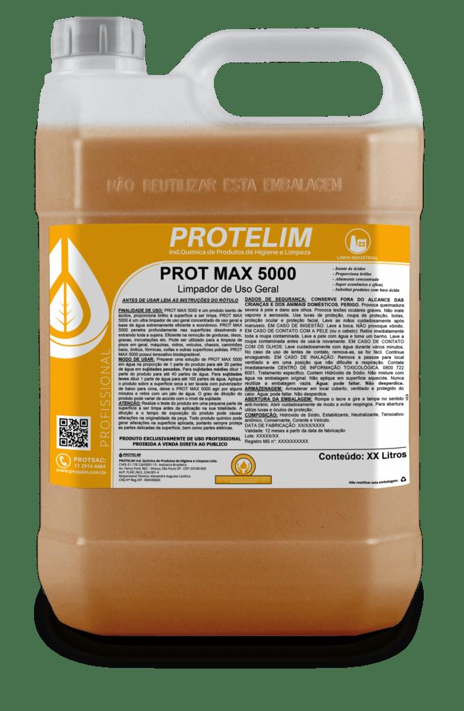 Protelim Prot Max 5000 Limpador de uso Geral 5lts