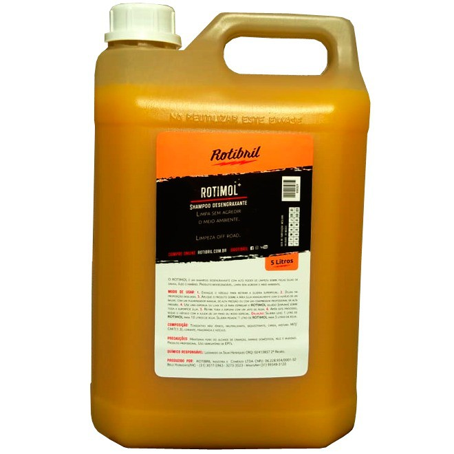 Rotibril Rotimol Shampoo Desengraxante 5 Litros