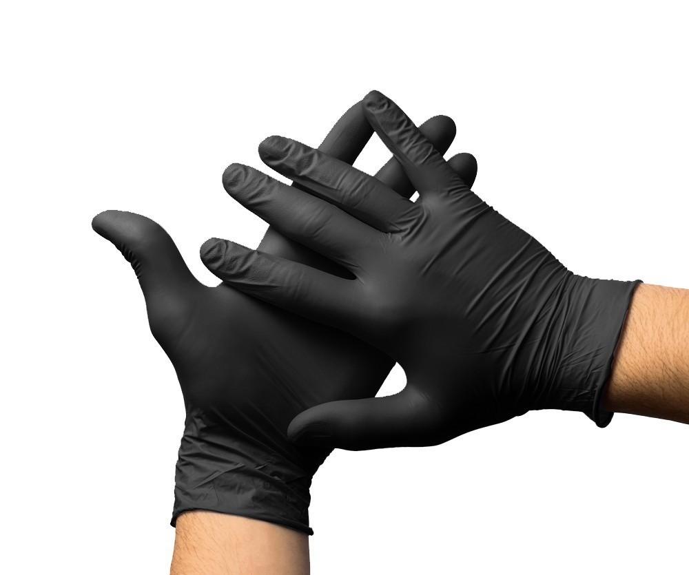 Supermax Luva de Nitrilo Black Sem Pó Tamanho G (1Par)