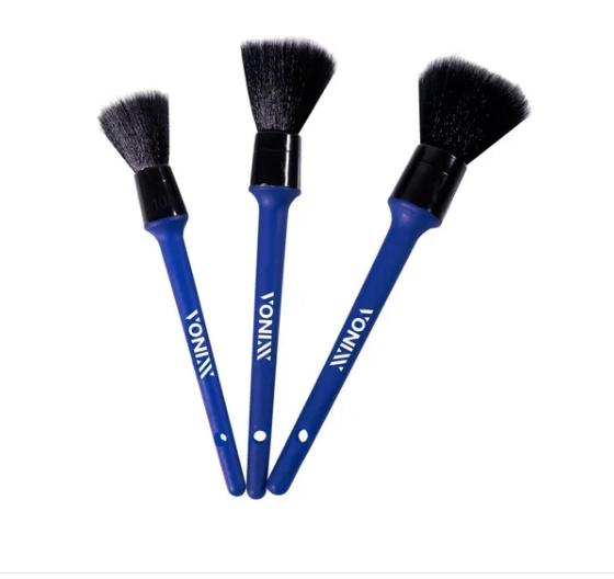 Vonixx Kit Pincéis Ultra  Macios Para Detalhamento  - 3 Peças