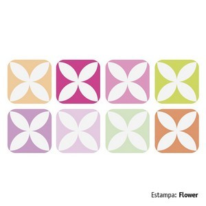 Adesivo Decorativo Gloo Flores