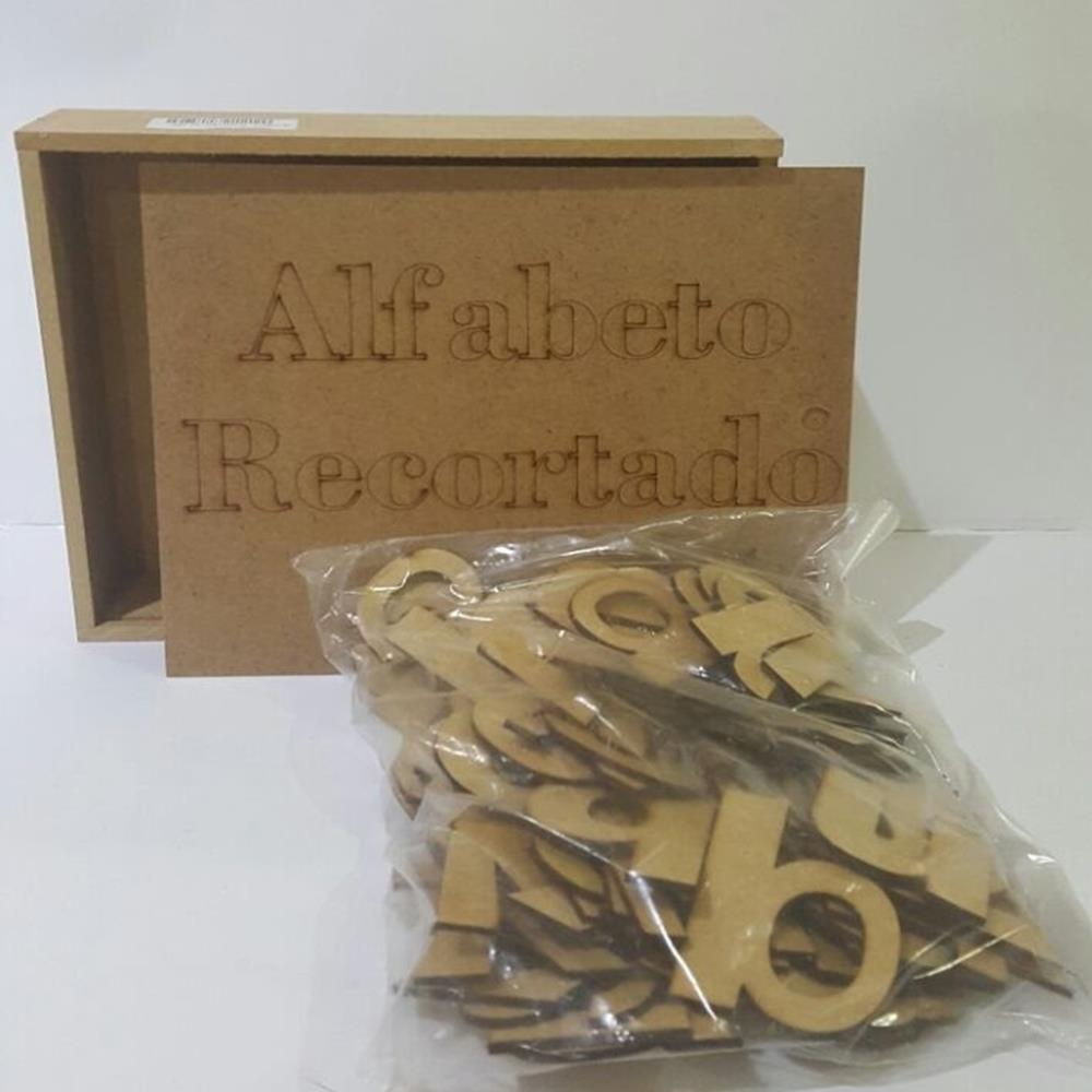 Alfabeto Recortado Móvel com 78 Letras