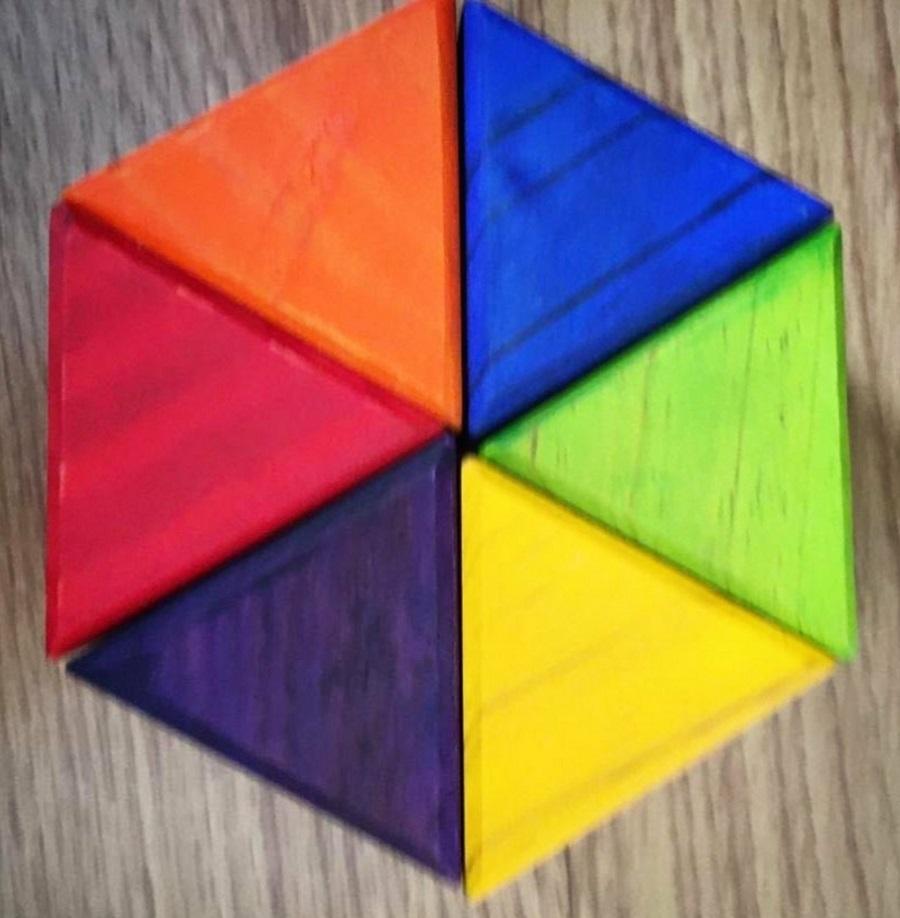 Blocos de montar triângulos Waldorf
