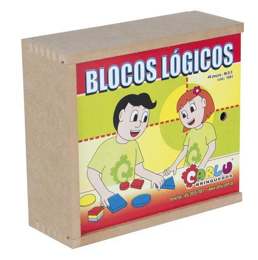Blocos Lógicos em Madeira 48 Peças