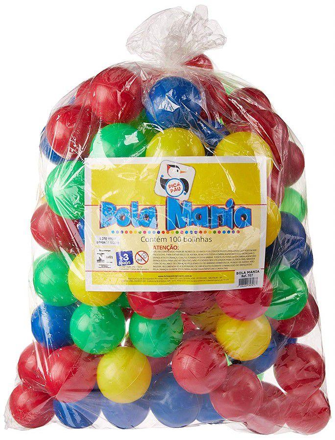 Bolinhas para Piscina 100 unidades Coloridas