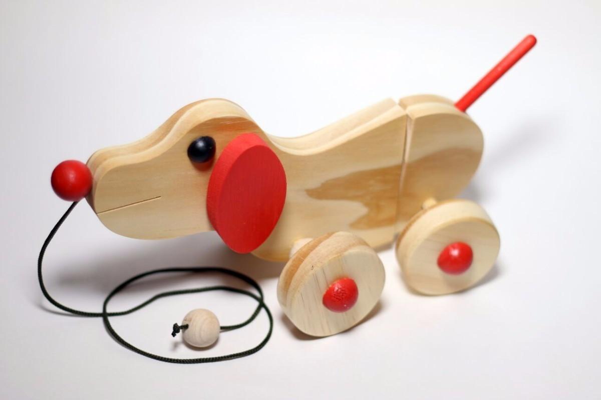 Brinquedo de Puxar Cachorrinho Articulado