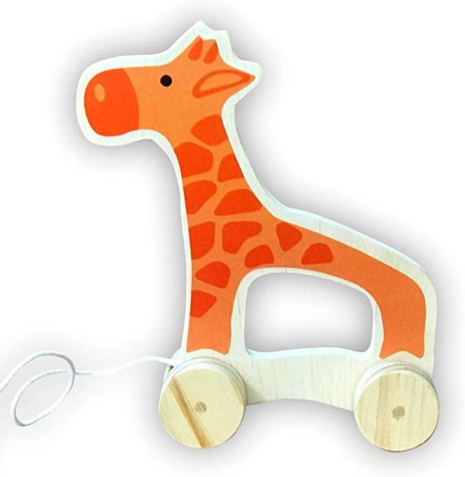 Brinquedo de Puxar Girafa