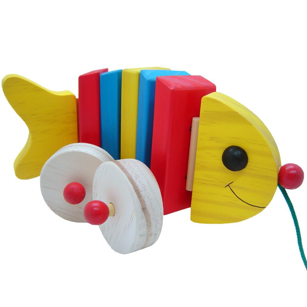 Brinquedo de Puxar Peixe Articulado