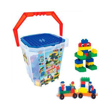 Brinquedos de encaixe - Balde Brinca Blocos