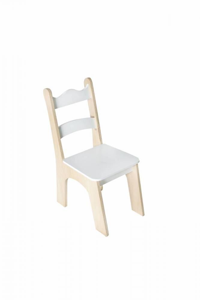 Cadeira Infantil de Madeira Branca
