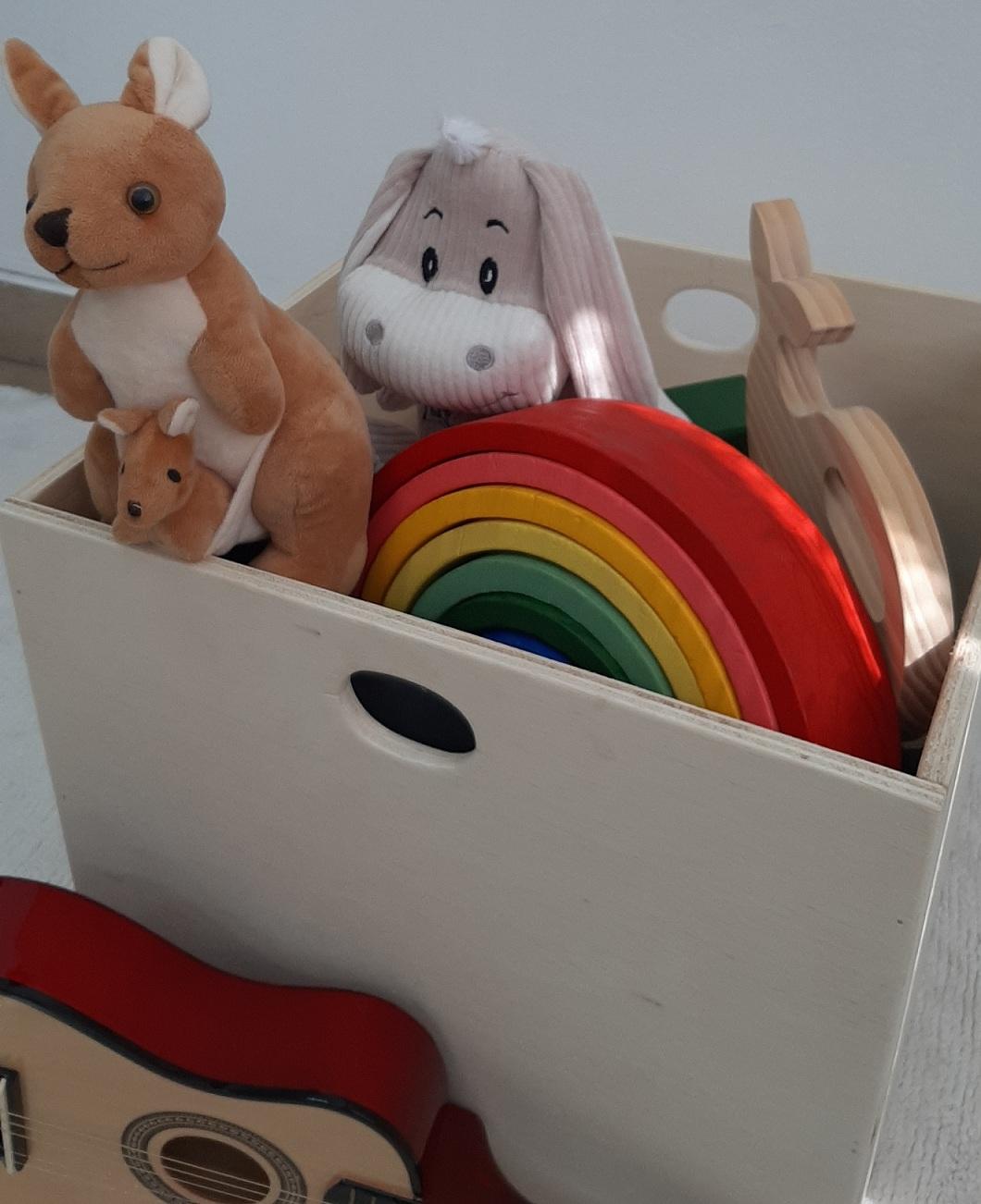 Caixa de Brinquedos Organizadora Montessoriana