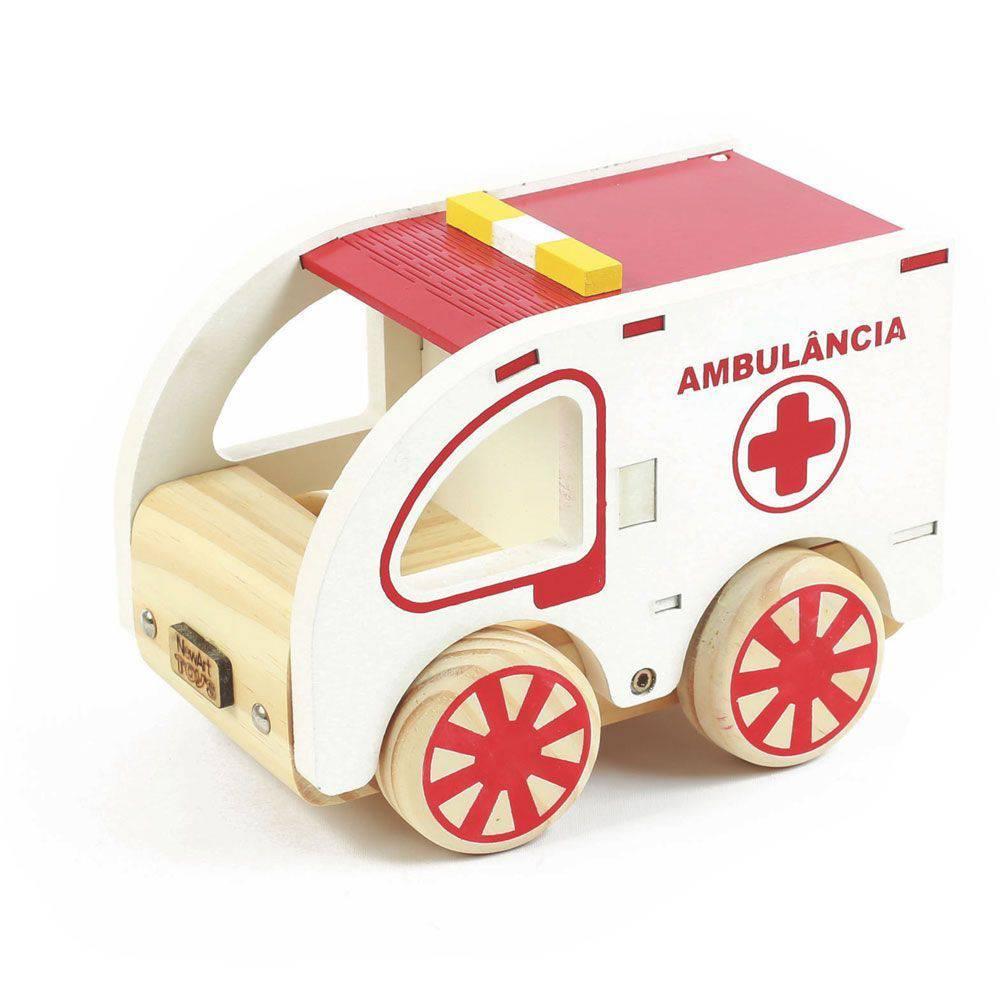 Carrinho de madeira Ambulância