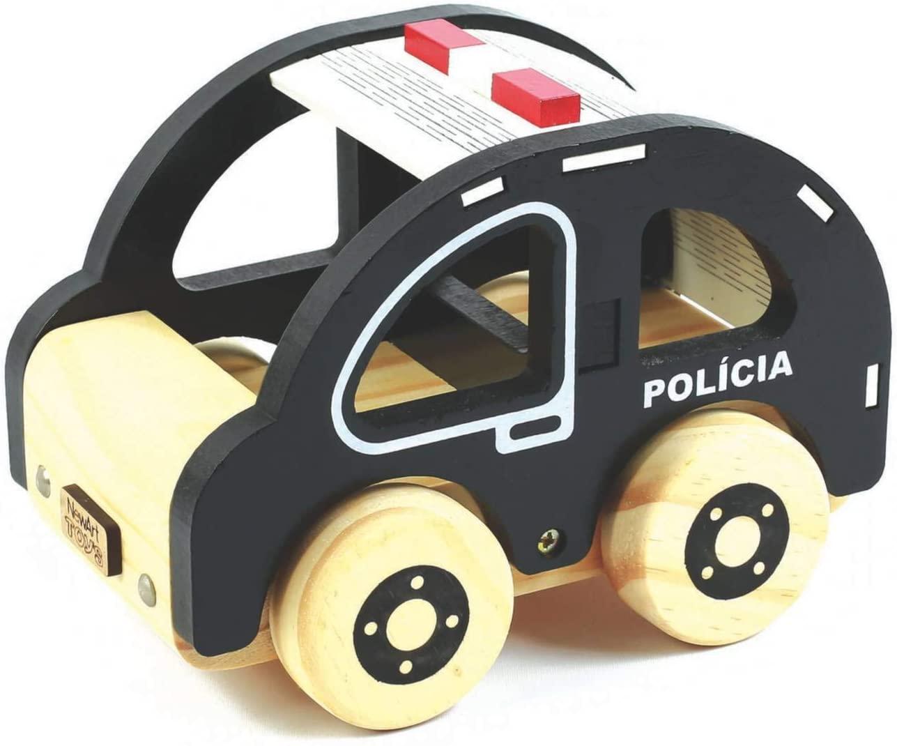 Carrinho de madeira Polícia