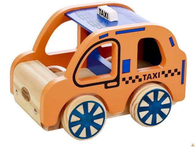 Carrinho de madeira Táxi