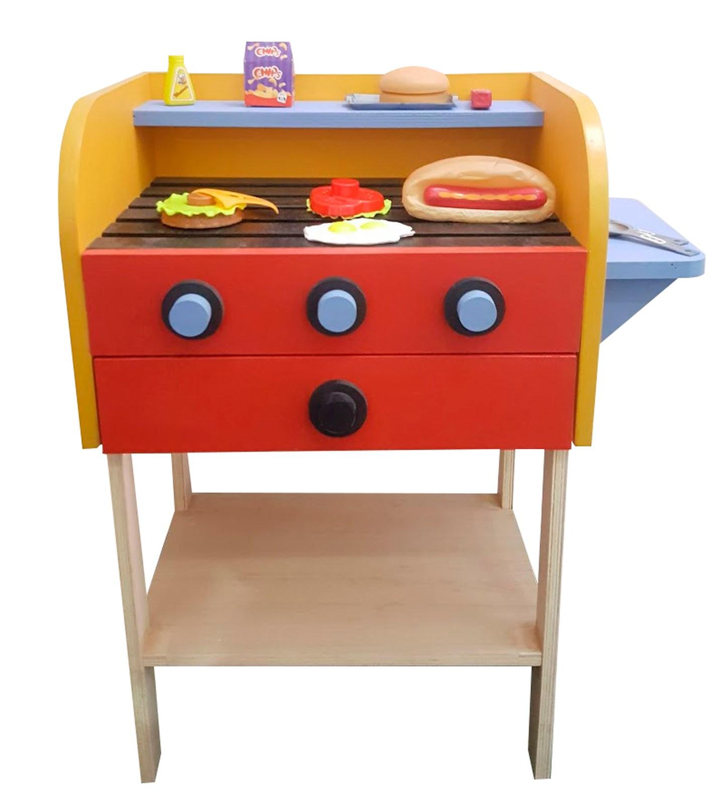 Churrasqueira Infantil de Madeira Fashion Toys