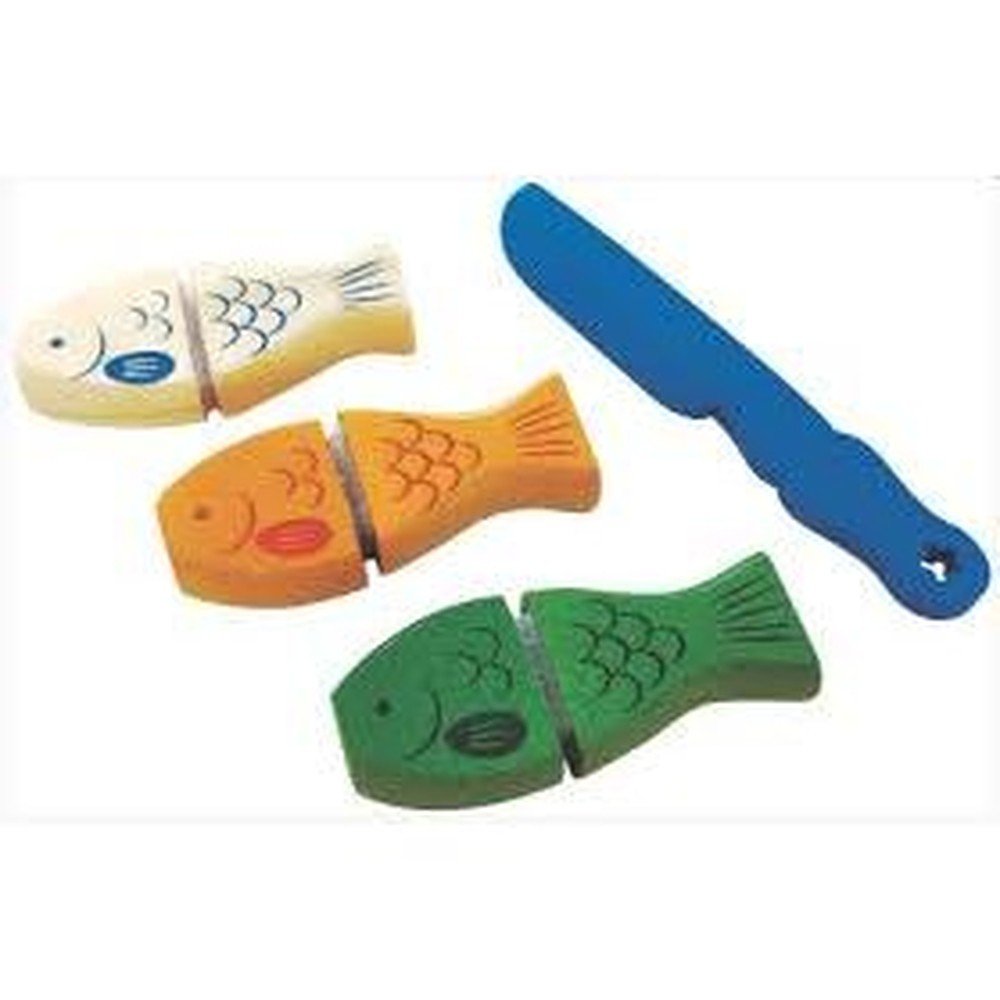 Comidinha de Brinquedo - Kit Peixe com corte