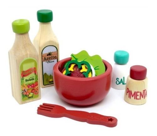 Comidinha de Brinquedo- Kit Salada Completo
