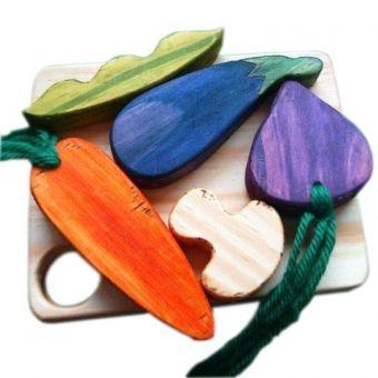 Comidinha de Brinquedo Tábua de Legumes