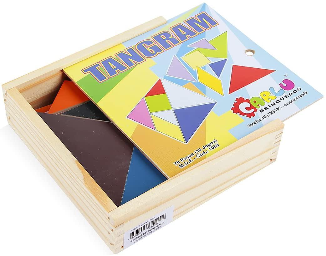 Conjunto Tangram de Madeira Carlu