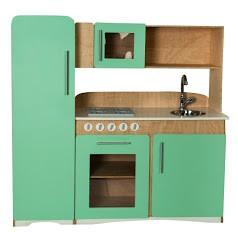 Cozinha Infantil Retrô Verde Água Fashion Toys