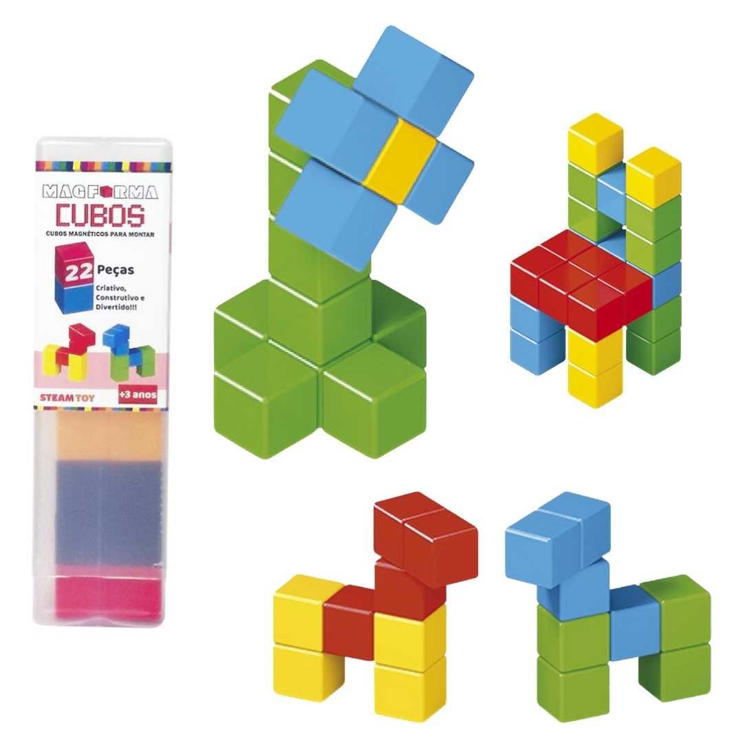 Cubos magnéticos 22 peças