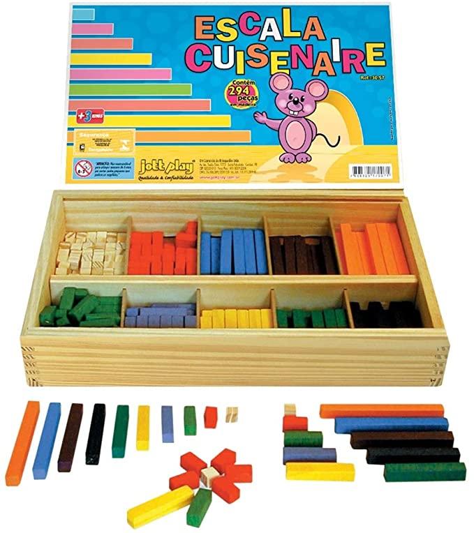 Escala Cuisenaire com 294 peças