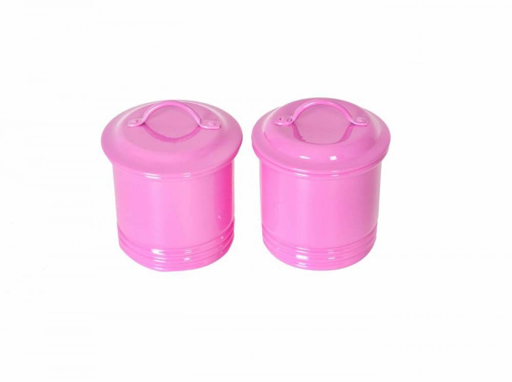Faz de Conta - Kit Condimento de Alumínio Rosa