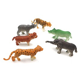 Kit Animais de plástico