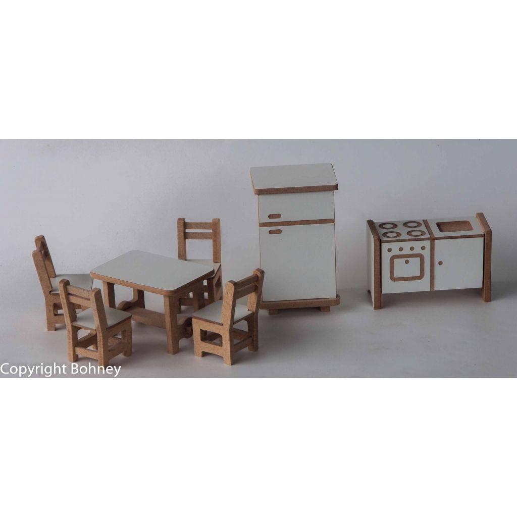 Kit de Móveis - Cozinha para Casinha de Boneca