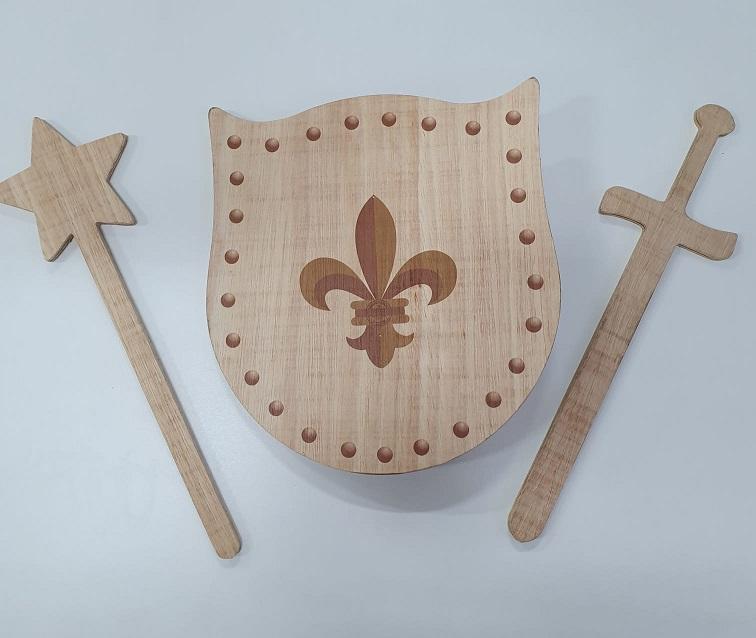 Kit Escudo Infantil Medieval