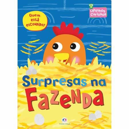 Livro Infantil Olhinhos Curiosos Surpresas na Fazenda