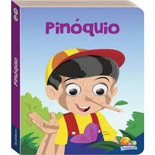 Livro Infantil Pinóquio com Olhinhos que Mexem