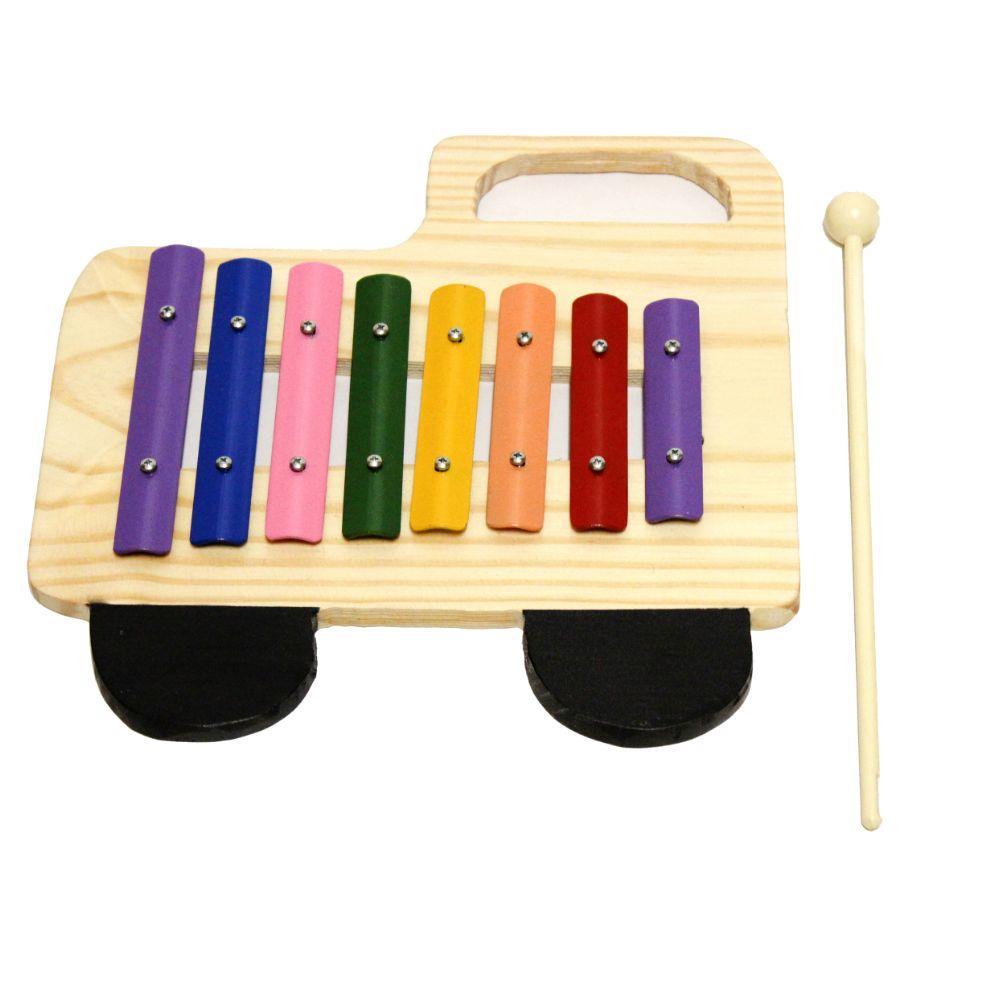 Metalofone Infantil Caminhão Colorido