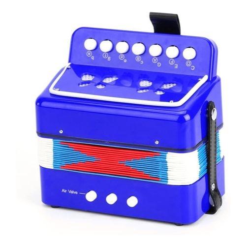 Mini Acordeon Infantil Azul