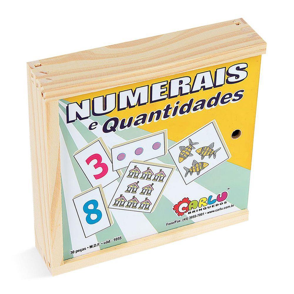 Numerais e Quantidades em Madeira Carlu