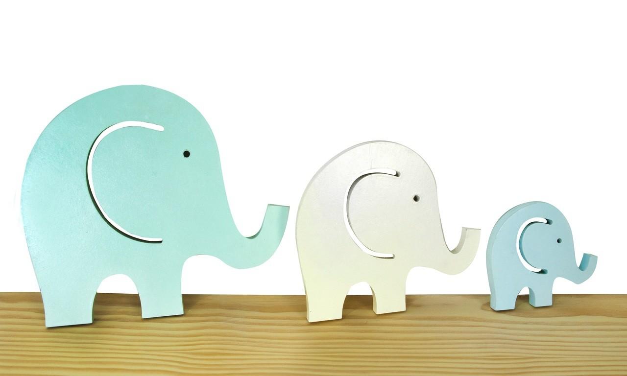 Objeto decorativo Trio de Elefantes Linha Soft