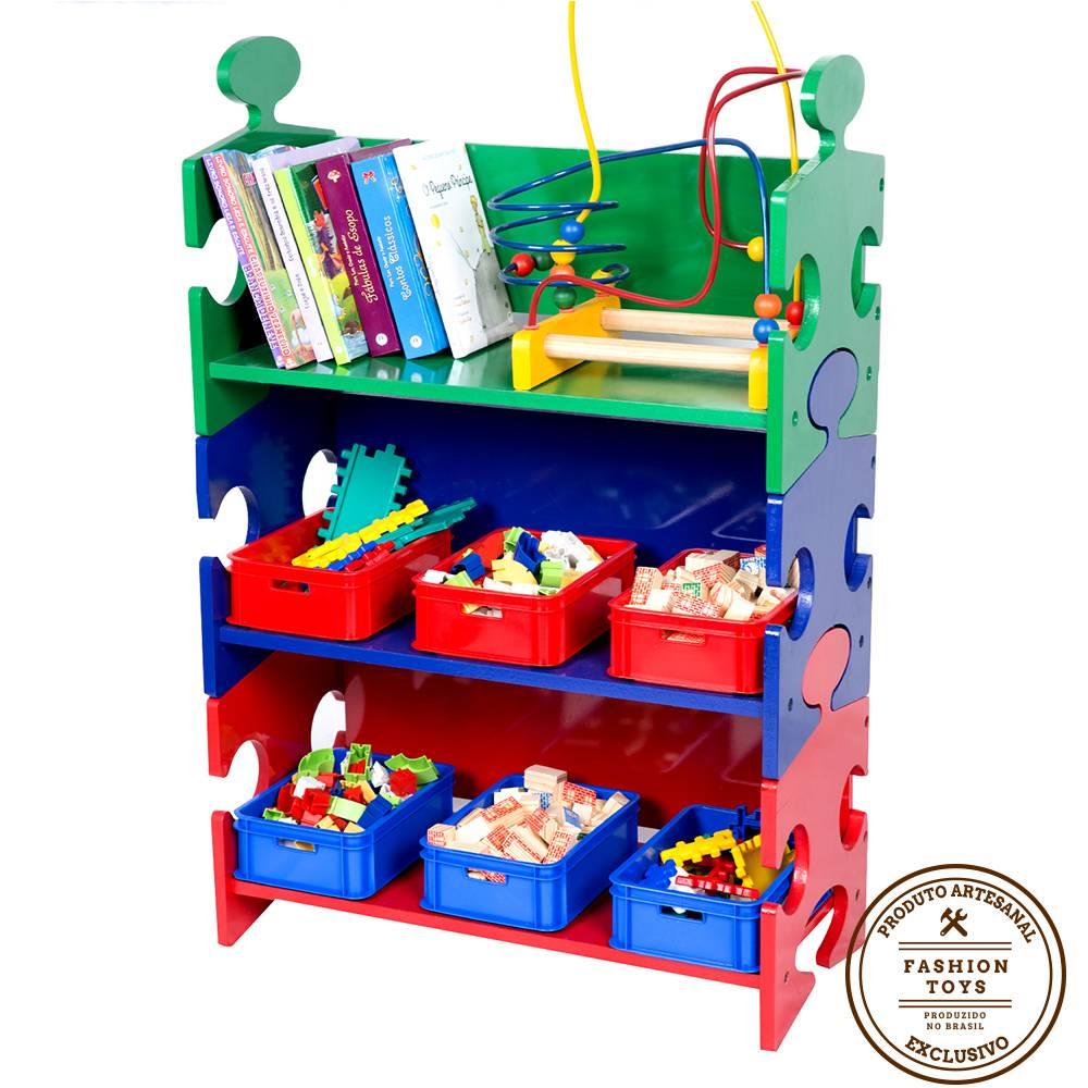 Organizador de Brinquedos Quebra-Cabeça