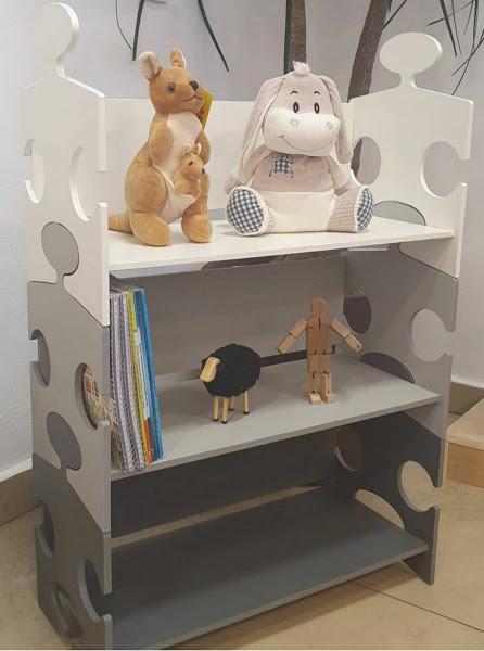 Organizador de Brinquedos Quebra-Cabeça Cinza Fashion Toys