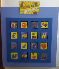 Painel Interativo de Madeira Jogo da Memória Frutas